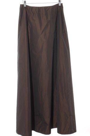 Angie Jupe longue brun foncé-brun style extravagant