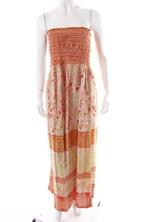 Angie schulterfreies Kleid florales Muster Boho-Look