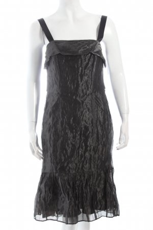 Angie Vestido tipo overol negro reluciente