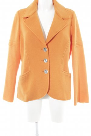 Angiemiller Wolljacke orange extravaganter Stil