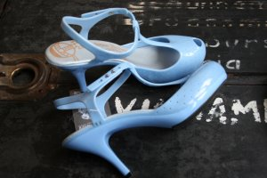 Vivienne Westwood Plateauzool pumps azuur