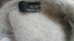 Asos Poncho gris claro-blanco lana de angora