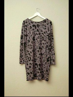 Angora Kleid mit Animalprint