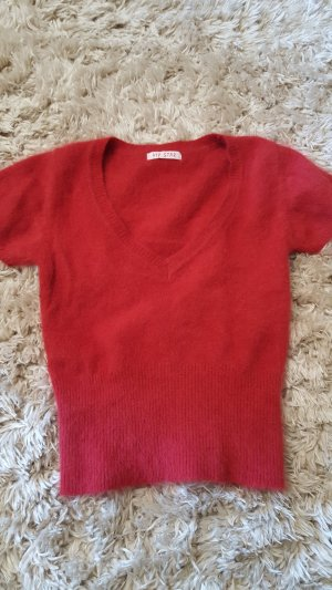 Short Sleeve Sweater red
