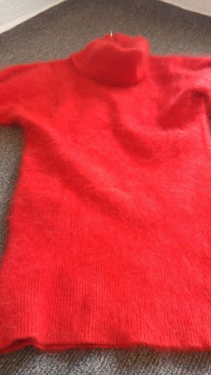 Long Sweater red angora wool