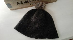 Angora/ Woll Mütze mit Fellbommel