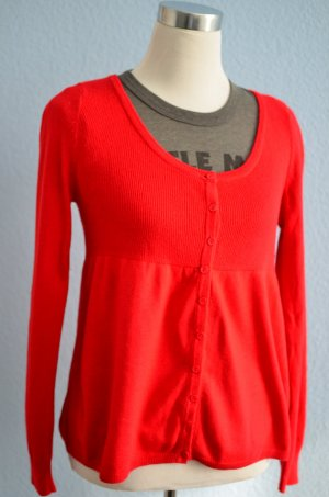 Angora Wollmix Cardigan Strickjacke H&M rot Empire Doll