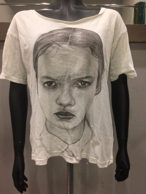 Angry Girl Print Shirt von Weekday weiß M