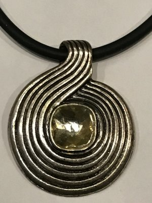 Pendant silver-colored-black