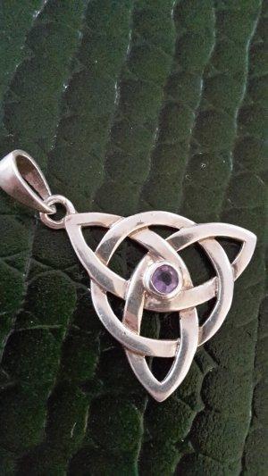Pendente argento-viola-grigio Argento
