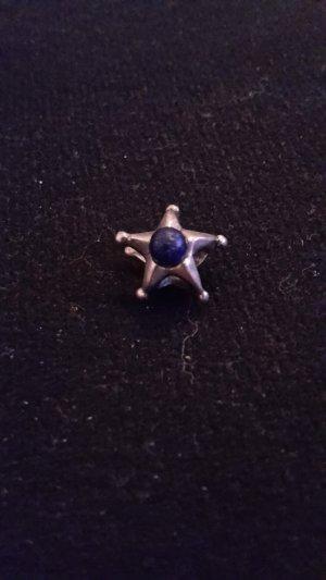 Pendente argento-blu acciaio Argento