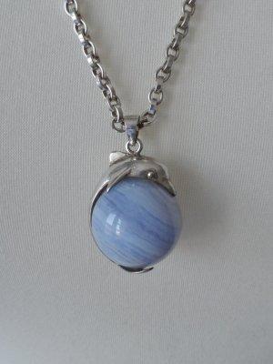 Colgante color plata-púrpura plata verdadero