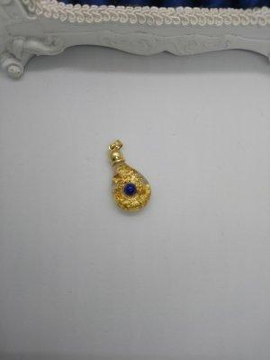 Anhänger Gold mit blauen Stein