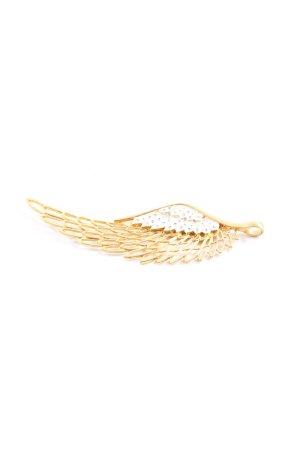 Colgante color oro-blanco estampado animal