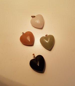 Anhänger Herz Amore Echter Stein