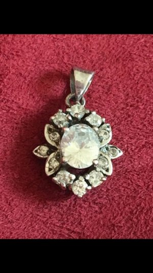 Pendant silver-colored-white