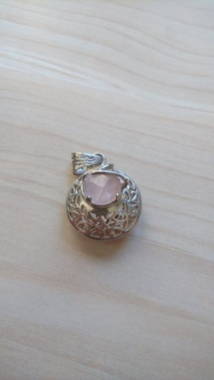 Pendant light pink-silver-colored