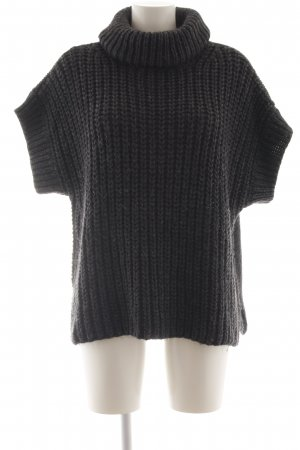 Ania Schierholt Short Sleeve Sweater black cable stitch casual look
