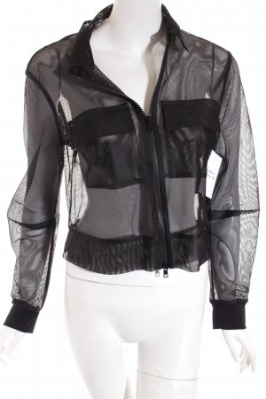 Ania Schierholt Shirtjacke schwarz Netz-Optik