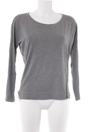 Ania Schierholt Sweatshirt lichtgrijs-grijs kleurverloop casual uitstraling