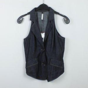 Ania Schierholt Denim Vest dark blue cotton