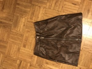 Stradivarius Faux Leather Skirt multicolored