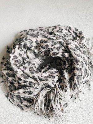 Mango Écharpe en crochet gris-gris clair