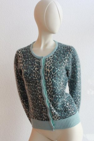 Animal Print Strickjacke