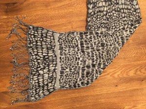 Esprit Sjaal met franjes zwart-wit Etiket verwijderd