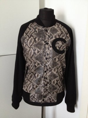 Animal Snakeprint Lederimitat Blogger Instagram Criminal Damage Luxus Bomberjacke  M ungetragen