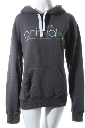 Animal Sweatshirt grau Logostickerei