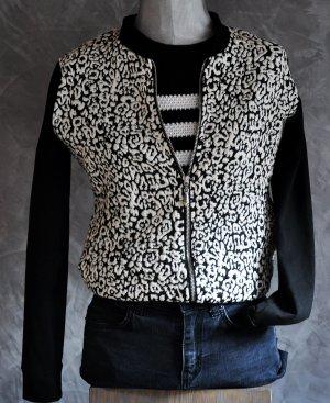 Blouson noir-blanc coton