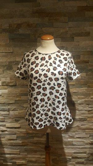 animalprint Bluse Shirt Gr S Zara Volants