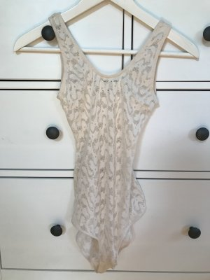 American Apparel Lace Top cream