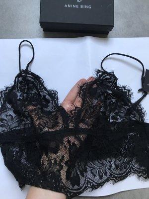 Anine Bing Bustier Top black