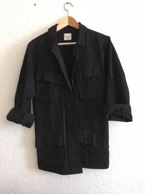 Anine Bing Oversized Jacket black cotton