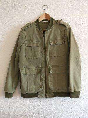 Anine Bing Bomber Jacket khaki cotton