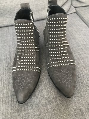 Anine Bing Ankle Boots grey-silver-colored