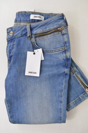 ANINE BING Damen Jeans Denim Mod.Cropped Jeans with Slit col.Parisian Blue Gr.30