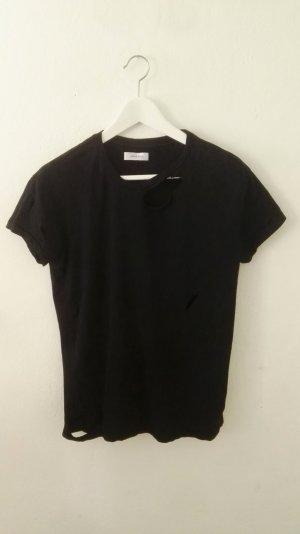 ANINE BING distressed Black T-Shirt