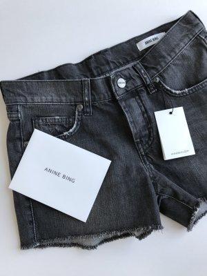 Anine Bing Short en jean gris anthracite