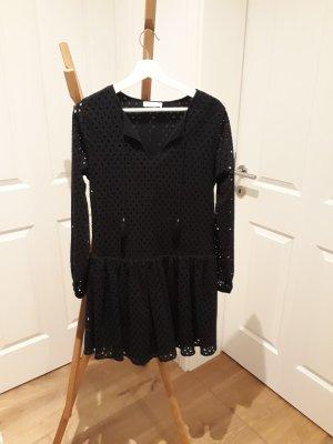 Anine Bing Midi-jurk zwart Katoen