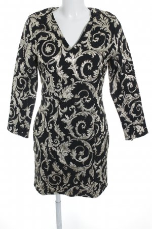 Anine Bing Sheath Dress black-gold-colored floral pattern glittery