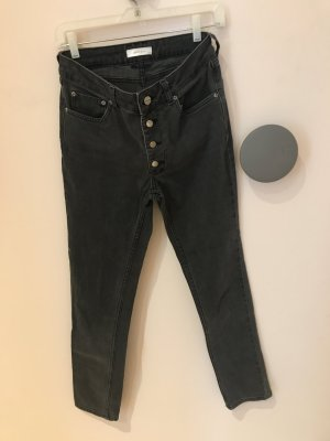 Anine Bing Jeans taille haute noir-gris anthracite
