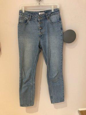 Anine Bing Jeans taille haute bleuet