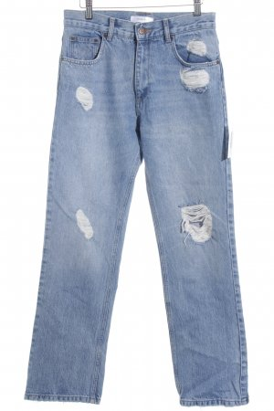 Anine Bing High Waist Jeans blue distressed style