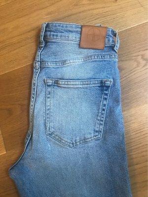Anine Bing Jeans a vita alta blu