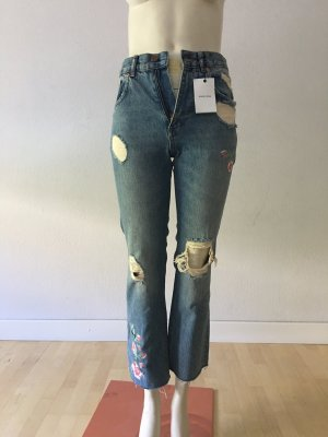 Anine Bing 7/8 Length Jeans azure cotton