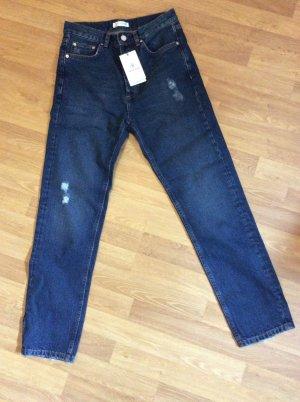 Anine Bing Jeans a gamba dritta blu