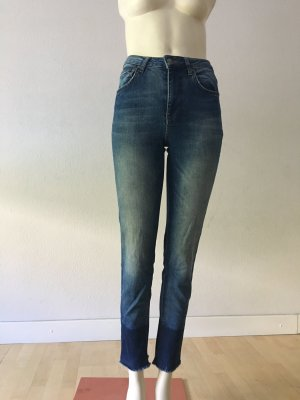 Anine Bing Tube Jeans steel blue cotton